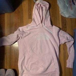 Pink Northface hoodie Sweatshirt
